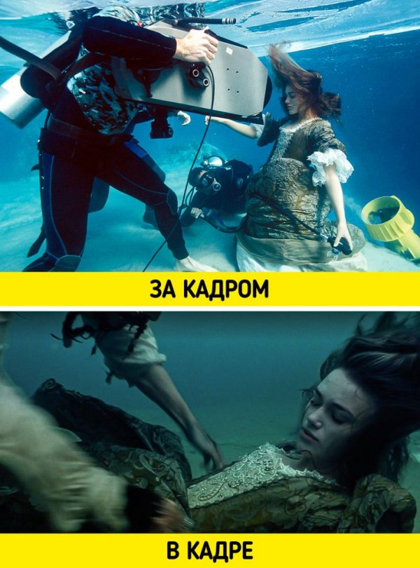 """Кира Найтли в подводной сцене фильма «Пираты Карибского моря: Проклятие """"Черной жемчужины""""»"""