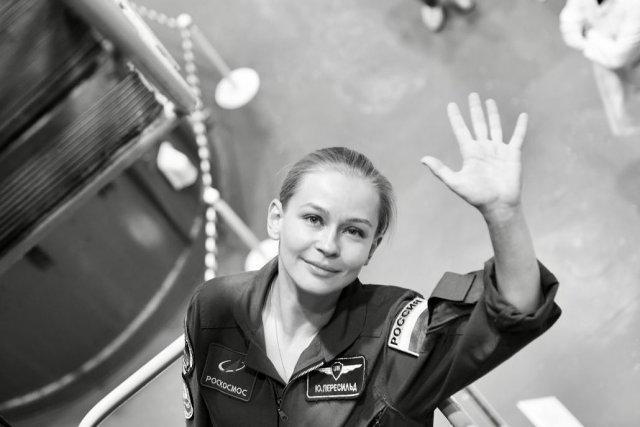 Актриса Юлия Пересильд и режиссер Клим Шипенко отправились в космос, чтобы снять фильм