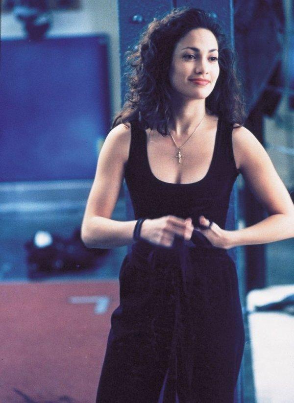 Дженнифер Лопес на съемках картины «Денежный поезд» в 1995 году