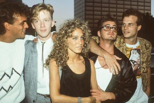 Сара Джессика Паркер и Роберт Дауни — младший в 1980-х, когда они были парой