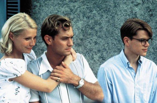 Гвинет Пэлтроу, Джуд Лоу и Мэтт Деймон на съемках ленты «Талантливый мистер Рипли» в 1999 году