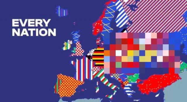 УЕФА указал Крым частью Украины в презентации логотипа Евро-2024