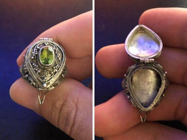 Для чего нужно такое кольцо? Оно из серебра с драгоценным камнем наверху