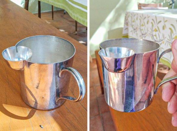 Для чего эта чашка? Меньшая емкость имеет 2 отверстия с внутренней стороны