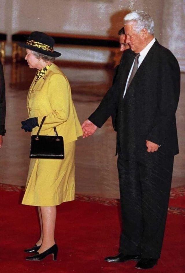 Первый и, видимо, последний визит Елизаветы II в Россию, 1994 год.