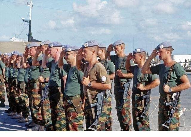 Бельгийские десантники в Сомали, 1993 год.