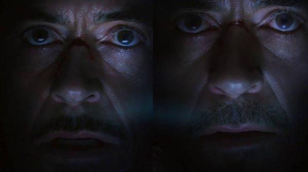 В фильме «Мстители: Финал» усы Тони Старка постоянно меняются