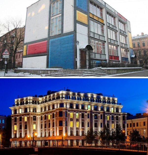 Новый жилой дом на месте снесённого модернистского здания, Санкт-Петербург