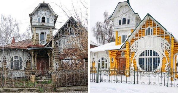 Деревянный дом купцов братьев Лужиных в Кимрах, Тверская область