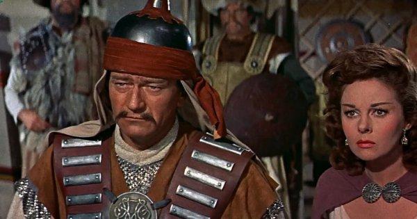 Джон Уэйн в фильме «Завоеватель» (1956)