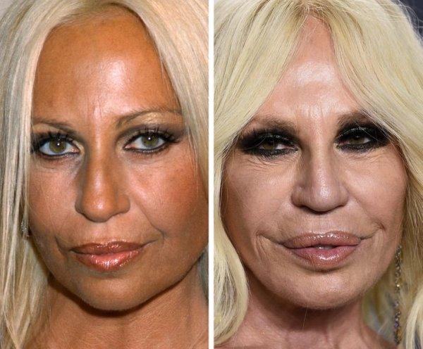 Донателла Версаче (43 и 64 года)