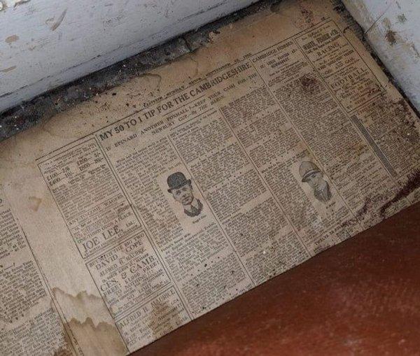 Под половицами нашего дома обнаружилась газета из 1928-го