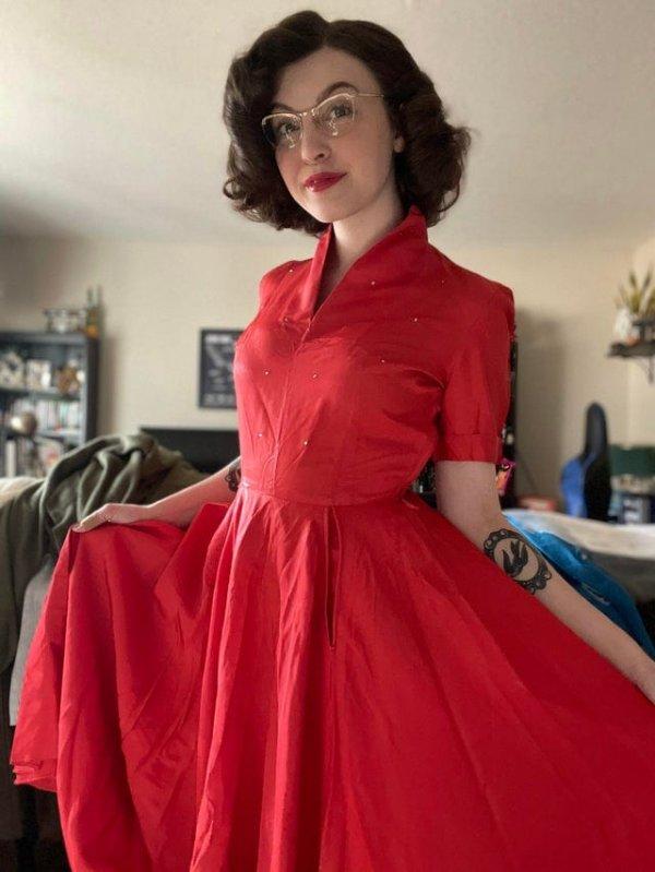 Платье из полиэстера 50-х годов