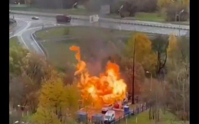 В Москве взорвалась газовая подстанция