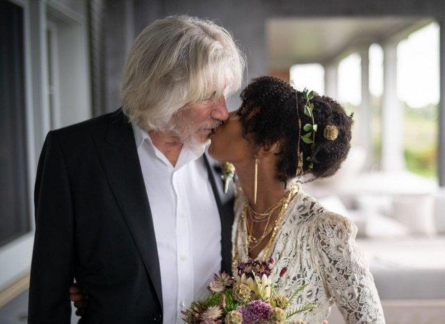 78-летний Роджер Уотерс из Pink Floyd женился в пятый  раз