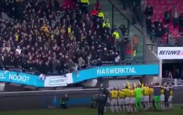 Трибуна на стадионе нидерландского «Витесса» не выдержала веса фанатов