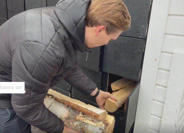 В Финляндии появился первый автомат, где можно купить вязанку дров: все из-за газового кризиса