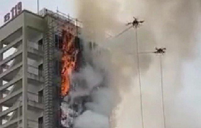 Как тушить пожар с помощью дронов