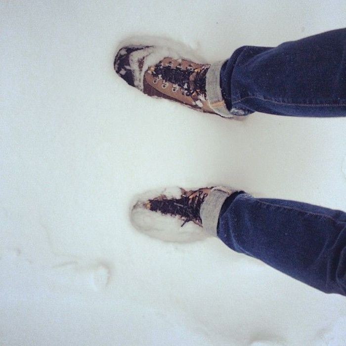 Аномальный снегопад в Нью-Йорке стал причиной чрезвычайного положения (24 фото)