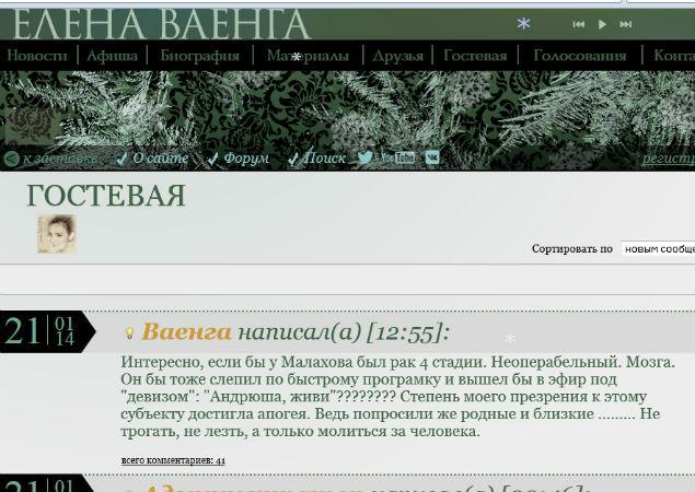 Елена Ваенга по поводу Андрея Малахова и болезни Жанны Фриске (2 фото)