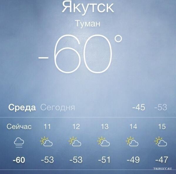Вот что значит холодно.