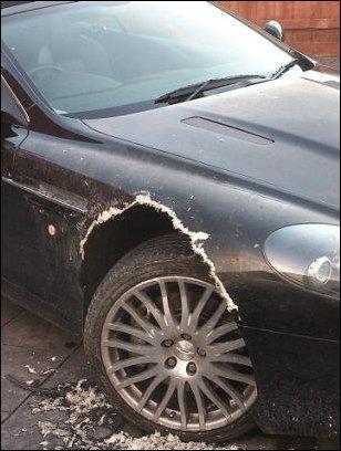 Собака погрызла дорогостоящий Aston Martin (5 фото)