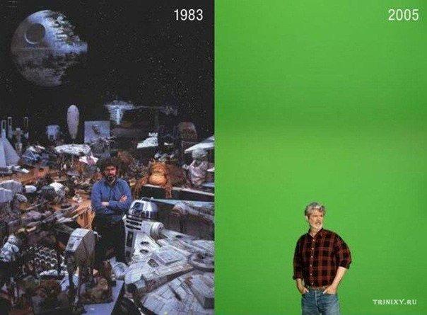 Эволюция спецэффектов в кино.