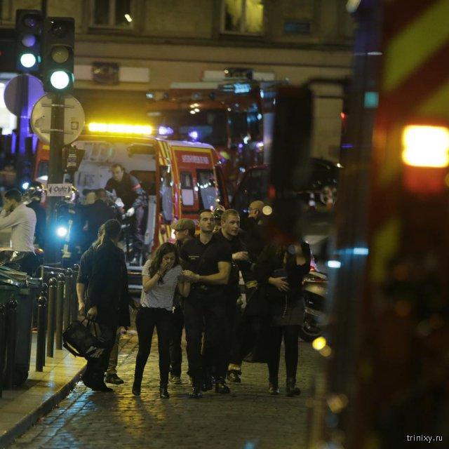 Теракты в Париже, фото, видео