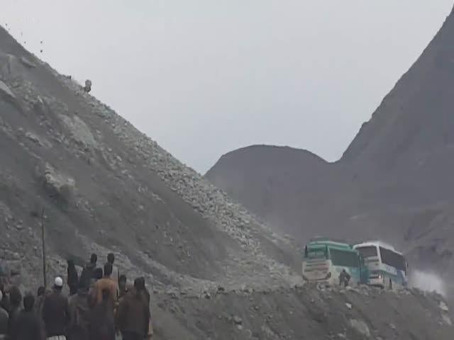 Камнепад в Пакистане