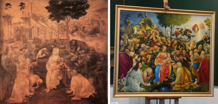 Художник из Новокузнецка «дописал» незаконченную картину Леонардо да Винчи (3 фото)