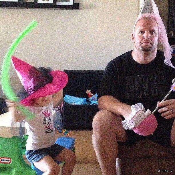 Когда дочери берутся наряжать своих отцов (31 фото)