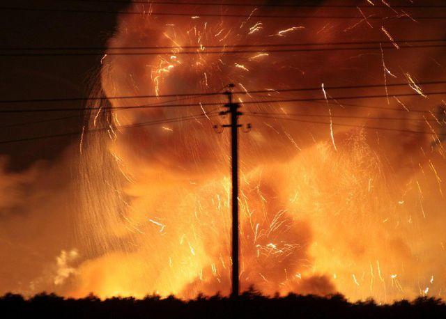 Пожар на складе боеприпасов в Винницкой области