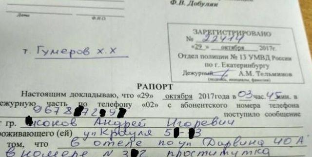 Недовольный услугами проститутки мужчина написал заявление в полицию (фото)
