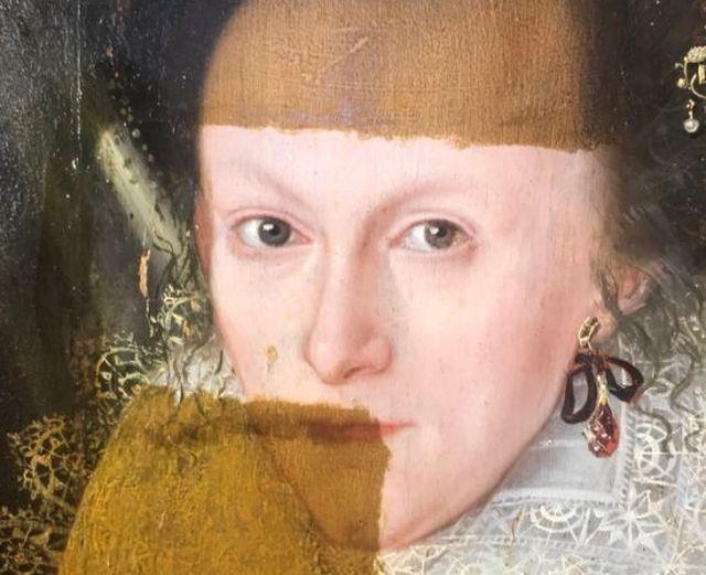 Удаление 200-летнего лака с 400-летней картины (3 фото + видео)