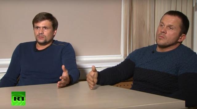 Интервью с Петровым и Бошировым, подозреваемыми по делу Скрипалей