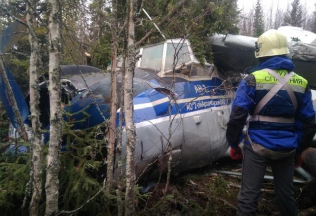 Жесткая посадка Ан-2 в лесу Архангельской области (7 фото)