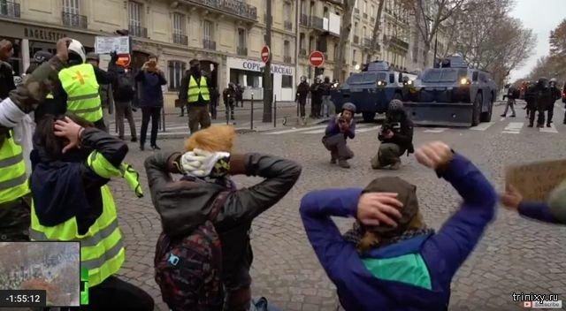Прямая трансляция столкновений в Париже
