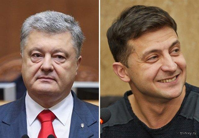 Во второй тур выборов президента Украины выходят Владимир Зеленский и Петр Порошенко
