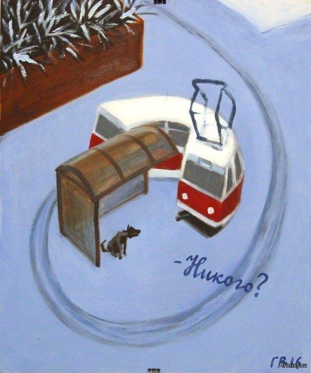 Рисунки со смыслом от Василия Голубева (17 фото)