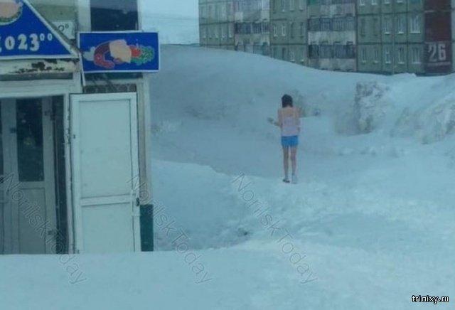 В Норильск пришла весна? (2 фото)