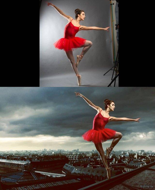 Создание постановочных фото в фотошопе (9 фото)