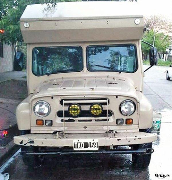 Кемпер из УАЗ-469 на дорогах Аргентины (7 фото)