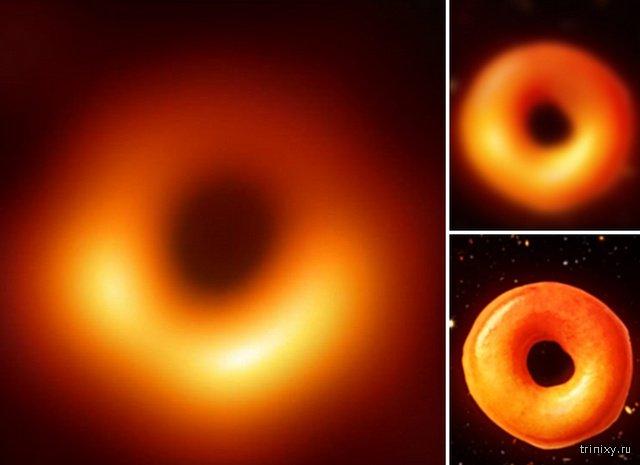 Шутки и юмор по поводу первой фотографии чёрной дыры в истории человечества (22 фото)