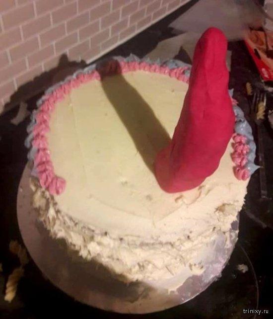 Непристойный торт на день рождения дочери (4 фото)