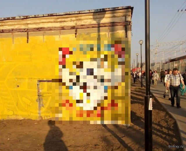 """Вырубака"" на станции МЦК Ростокино (2 фото)"