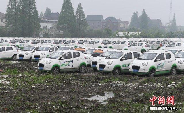Кладбище электромобилей (6 фото)