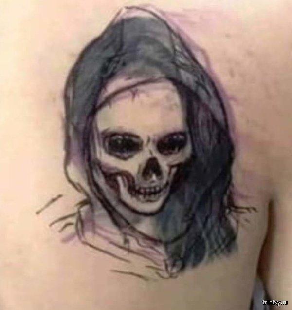 Татуировка бывшей девушки (3 фото)