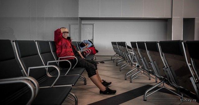 В аэропорту Новосибирска уже полгода живет беглец из Томска (3 фото)