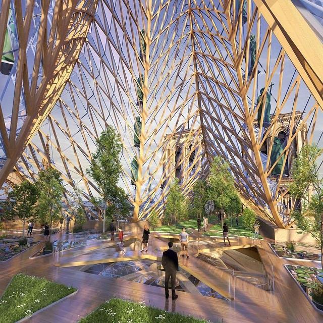 Архитекторы разных стран мира предложили варианты реконструкции Нотр-Дама (28 фото)