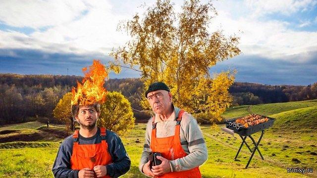 Зажгли. Двое мигрантов подожгли себя на пикнике